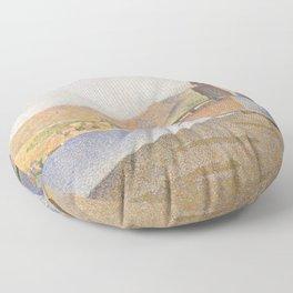 The Town Beach, Collioure, opus 165 Floor Pillow