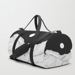 Lines in the mountains II Duffle Bag