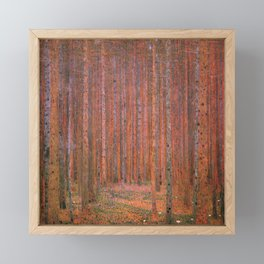Tannenwald Fir Forest by Gustav Klimt Framed Mini Art Print