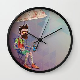 It's too hot to be cool Wall Clock