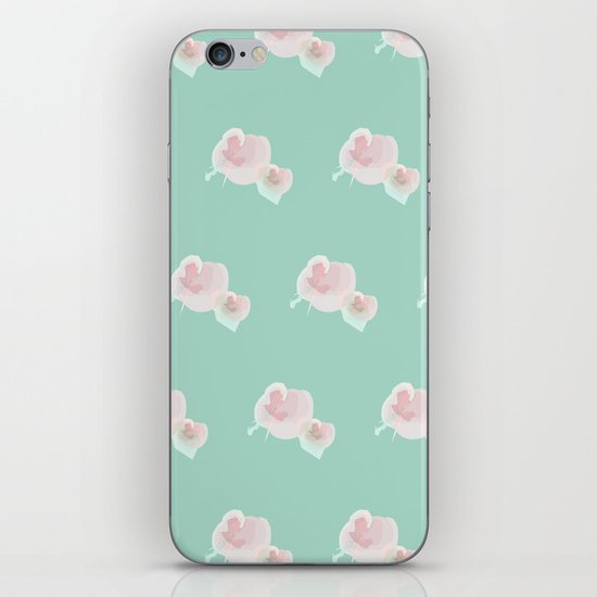 Dope Floral Teal iPhone & iPod Skin