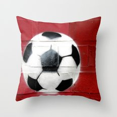 The round must into the square Throw Pillow