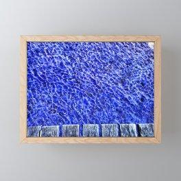 Water blue, Annecy Framed Mini Art Print