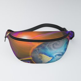 Full moon - Fascination Blood moon - Abstract Fanny Pack