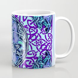 7 Blue Celtic Horses Coffee Mug