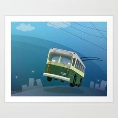 Trole Valparaiso Art Print