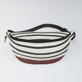 Dark Ruby & Stripes Fanny Pack