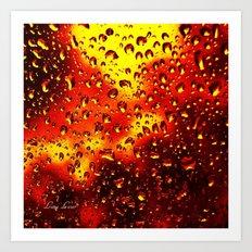I set fire to the rain Art Print