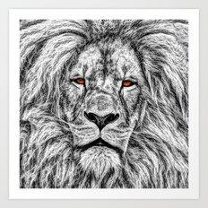 Black Lion Art Print
