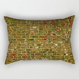 Grunge Wall Of Gold One Rectangular Pillow