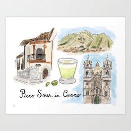 Pisco Sour in Cusco, Peru Art Print