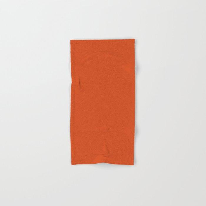 Solid Retro Orange Hand & Bath Towel