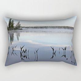 trees and weeds reflected Rectangular Pillow