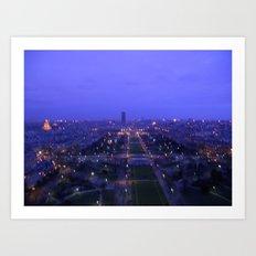 Paris At Dusk Art Print