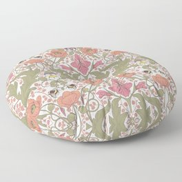 Spring Pattern with Poppy Flowers and Gladioli Floor Pillow