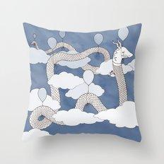 Air Dragon Throw Pillow