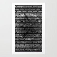 Black Stars & Black Stripes Art Print