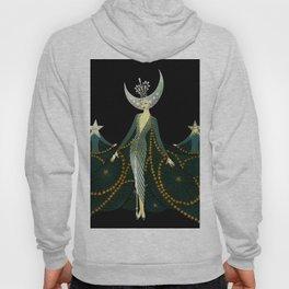 """Art Deco Design """"Queen of the Night"""" Hoody"""