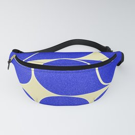 Blue mid-century shapes no8 Fanny Pack