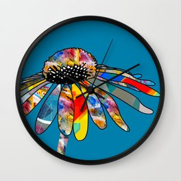 The unusually Conflower Wall Clock