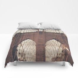 Moody Brooklyn Bridge Comforters