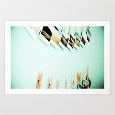 Polaroids Art Print
