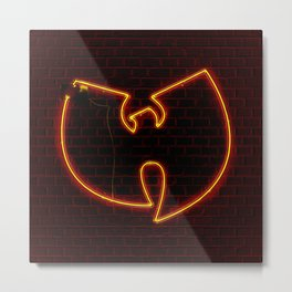 Wu Tang Neon Metal Print