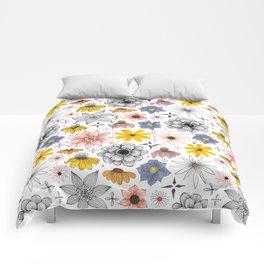 eclectic flower pattern Comforters