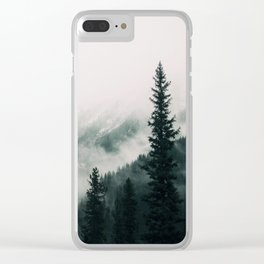 Over the Mountains and trough the Woods -  Forest Nature Photography Clear iPhone Case