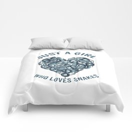 Just A Girl Who Loves Snakes Heart Comforters
