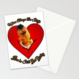 Happy Valentines Day From Gritty to YOU! Stationery Cards