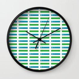 Flag of Uzbekistan-Uzbekistan,Uzbek,O'zbekiston, o'zbek Wall Clock
