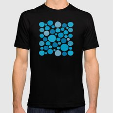 Blue Dots Black MEDIUM Mens Fitted Tee