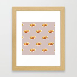 What I miss the most: Food Pattern Framed Art Print