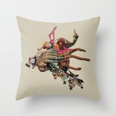night shifting shadows Throw Pillow
