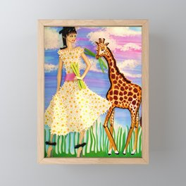 THE AFRICAN SAFARI FASHION ILLUSTRATION BY JAMES THOMAS RYAN Framed Mini Art Print