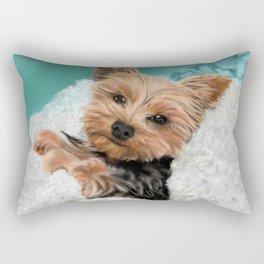 Chewie the Yorkie Rectangular Pillow