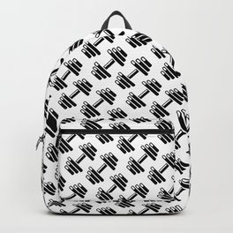 Dumbbellicious / Black and white dumbbell pattern Backpack