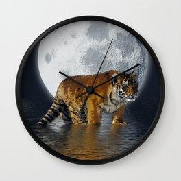 Moonlite Night Tiger Wall Clock