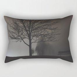 Behind the Tree Rectangular Pillow