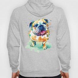 Watercolor Bulldog Hoody