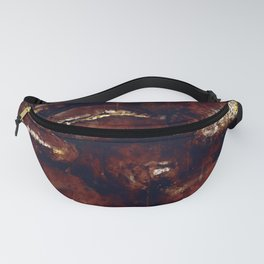 big coffee beans splatter watercolor Fanny Pack