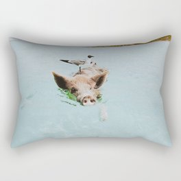 lets swim Rectangular Pillow