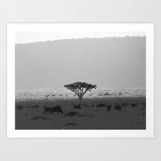 Migration in the Maasai Mara Art Print