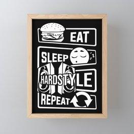 Eat Sleep Hardstyle Repeat - Bass Party Hardbass Framed Mini Art Print