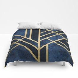 Art Deco Midnight Comforters