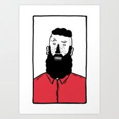 BearD Guy Art Print