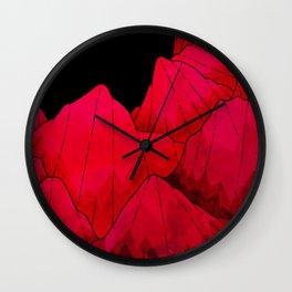 Rose red Rocks Wall Clock