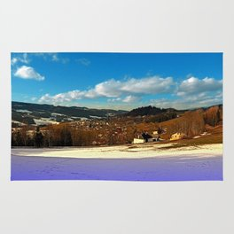 Colorful winter wonderland with clouds | landscape photography Rug