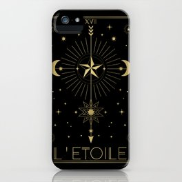 L'Etoile or The Star Tarot Gold iPhone Case